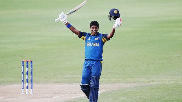 Dhananjaya Lakshan celebrates his century