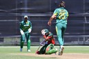 Aman Gandhi is struck on the helmet by Gerald Coetzee, South Africa v Kenya, U-19 World Cup, Lincoln, January 14, 2018