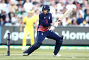 Joe Root steadied England after the fall of a couple of wickets, Australia v England, 1st ODI, Melbourne, January 14, 2018