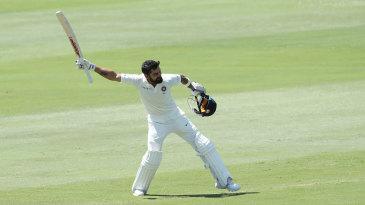 Virat Kohli is elated after scoring his 21st Test century