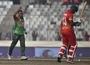 Rubel Hossain celebrates Tendai Chatara's wicket, Bangladesh v Zimbabwe, tri-series, Mirpur, January 15, 2018