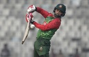 Tamim Iqbal punches away from his body, Bangladesh v Zimbabwe, tri-series, Mirpur, January 15, 2018
