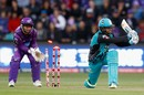 Alex Ross misses a sweep, Hobart Hurricanes v Brisbane Heat, Big Bash League 2017-18, Hobart, January 15, 2018