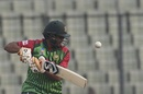 Shakib Al Hasan attempts a cut shot, Bangladesh v Zimbabwe, tri-series, Mirpur, January 15, 2018