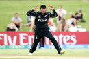 Rachin Ravindra gets close to taking a wicket, New Zealand v West Indies, Under-19 World Cup, Group A, Mount Maunganui, January 13, 2018