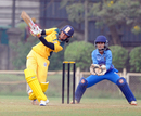 Smriti Mandhana lofts one over mid-on, Maharashtra v Railways, Senior Women's T20 League 2017-18, Mumbai, January 15, 2018
