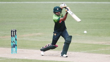 Babar Azam brings out a textbook punch