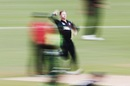 Lockie Ferguson sometimes runs in as fast as his 150 kph thunderbolts, New Zealand v Pakistan, 4th ODI, Hamilton, January 16, 2018