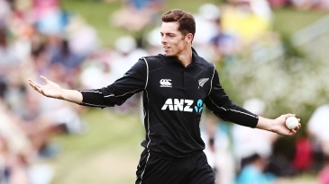 Mitchell Santner continued to impress with his fingerspin
