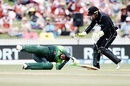 A helmet-less Shoaib Malik was hit in the back of the head by a Colin Munro throw, New Zealand v Pakistan, 4th ODI, Hamilton, January 16, 2018