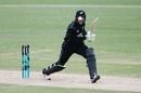Ball on the eye: Martin Guptill tracks his hit through cover, New Zealand v Pakistan, 4th ODI, Hamilton, January 16, 2018
