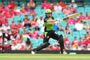 Naomi Stalenberg cuts the ball during her 48, Sydney Sixers v Sydney Thunder, WBBL 2017-18, Sydney, January 13, 2018