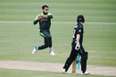 Faheem Ashraf is a picture of exertion, New Zealand v Pakistan, 4th ODI, Hamilton, January 16, 2018