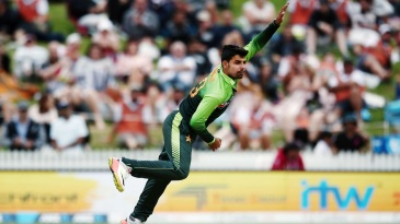 Shadab Khan bowled a seven-over first-spell