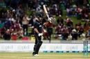 Colin de Grandhomme acknowledges his half-century, New Zealand v Pakistan, 4th ODI, Hamilton, January 16, 2018