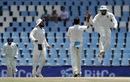 Mohammed Shami gets a high-five from Rohit Sharma, South Africa v India, 2nd Test, Centurion, 4th day, January 16, 2018