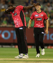 Carlos Brathwaite takes out the dab, Melbourne Stars v Sydney Sixers, BBL 2017-18, Melbourne, January 16, 2018