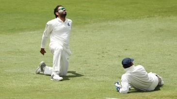 Rohit Sharma displays his frustration