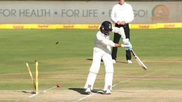 M Vijay was bowled by Kagiso Rabada