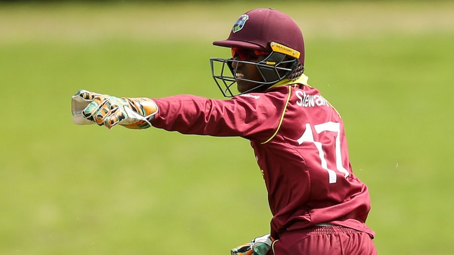 West Indies captain Emmanuel Stewart appeals