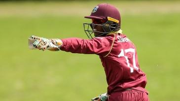 West Indies captain Emmanuel Stewart appeals