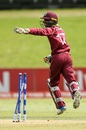 West Indies captain Emmanuel Stewart appeals, South Africa v West Indies, Under-19 World Cup, Group A, Mount Maunganui, January 17, 208