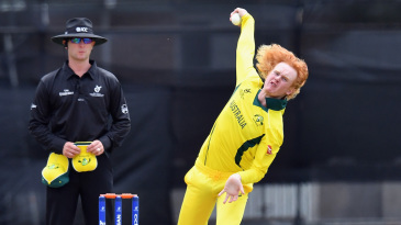 Lloyd Pope took two wickets against Zimbabwe