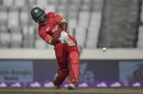 Solomon Mire plays a lofted shot, Sri Lanka v Zimbabwe, tri-series, Mirpur, January 17, 2018