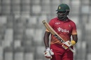 Hamilton Masakadza acknowledges his half-century, Sri Lanka v Zimbabwe, tri-series, Mirpur, January 17, 2018