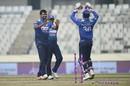 Thisara Perera had Brendan Taylor bowled, Sri Lanka v Zimbabwe, tri-series, Mirpur, January 17, 2018