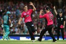 Sean Abbott returned figures of 4-0-11-4, Sydney Sixers v Brisbane Heat, Big Bash League 2017-18, Sydney, January 18, 2018