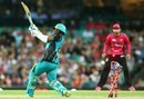 Yasir Shah's leg stump was pegged back off his first ball, Sydney Sixers v Brisbane Heat, Big Bash League 2017-18, Sydney, January 18, 2018