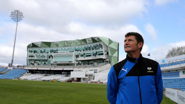 Martyn Moxon, in front of the Headingley offices where the plan was hatched