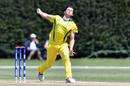 Jason Ralston bowls, Australia v PNG, Under-19 World Cup 2018, Lincoln, January 19, 2018