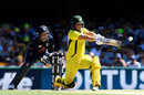 Aaron Finch continued the form he showed in Melbourne, Australia v England, 2nd ODI, Brisbane, January 19, 2018