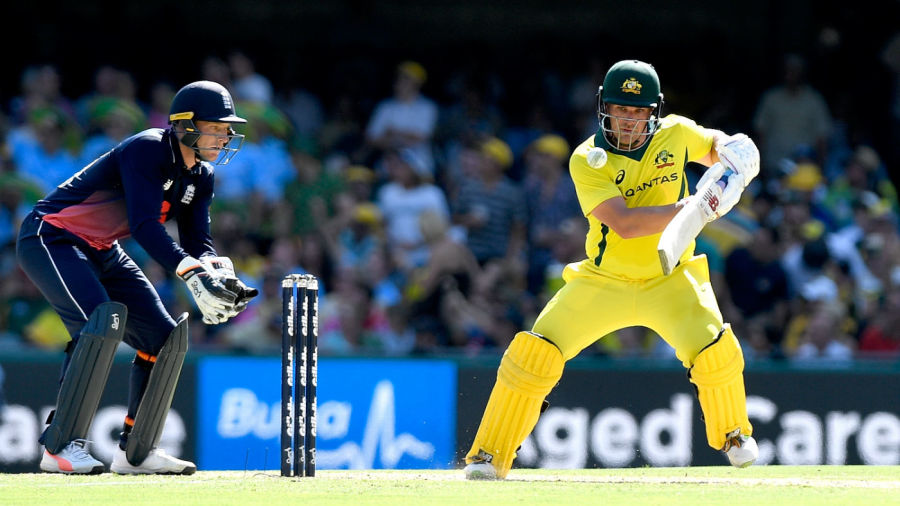 Aaron Finch brought up his second hundred of the series