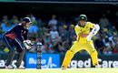 Aaron Finch brought up his second hundred of the series, Australia v England, 2nd ODI, Brisbane, January 19, 2018
