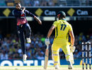 Adil Rashid claimed the wicket of Marcus Stoinis, Australia v England, 2nd ODI, Brisbane, January 19, 2018