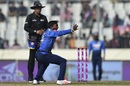Akila Dananjaya appeals for the wicket of Tamim Iqbal, Bangladesh v Sri Lanka, tri-nation series, Dhaka, January 19, 2018