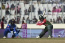Mushfiqur Rahim shapes to drill the ball, Bangladesh v Sri Lanka, Tri-nation series, Dhaka, January 19, 2018