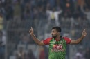 Mashrafe Mortaza celebrates a wicket, Bangladesh v Sri Lanka, Tri-nation series, Dhaka, January 19, 2018