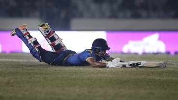 Dinesh Chandimal was run out for 28