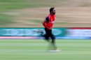 Faisal Jamkhandi runs in to bowl, Canada v England, Under-19 World Cup, Group C, Queenstown, January 20, 2018