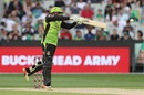 Usman Khawaja punished the Stars with a flurry of boundaries, Melbourne Stars v Sydney Thunder, Big Bash League 2017-18, Melbourne, January 20, 2018