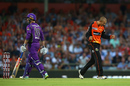 Ashton Agar celebrates a wicket, Perth Scorchers v Hobart Hurricanes, Big Bash League, January 20, Perth