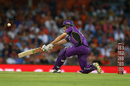 Simon Milenko plays a sweep, Perth Scorchers v Hobart Hurricanes, Big Bash League, January 20, Perth