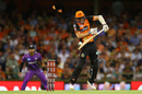 Micheal Klinger was bowled after a bouncer squeezed through to the stumps after hitting him on the helmet grille, Perth Scorchers v Hobart Hurricanes, Big Bash League, January 20, Perth