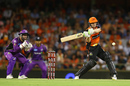 Cameron Bancroft shapes up to play a pull shot, Perth Scorchers v Hobart Hurricanes, Big Bash League, January 20, Perth