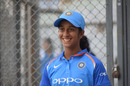 Jemimah Rodrigues sports a smile after the practice match, Mumbai Under-16 boys v India women, Mumbai, January 20, 2018