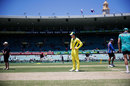 Steven Smith inspects the pitch, Australia v England, 3rd ODI, Sydney, January 21, 2018